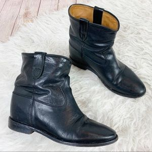 ISABEL MARANT Calfskin Leather Ankle Boots Slouch